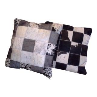 Hair on Hide Accent Pillows - a Pair