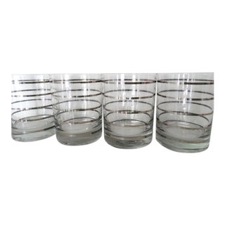 Georges Briard Mid-Century Striped Glasses - Set of 4