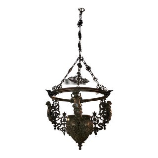 19th Century Bronze and Iron Hanging Planter/Jardinière For Sale