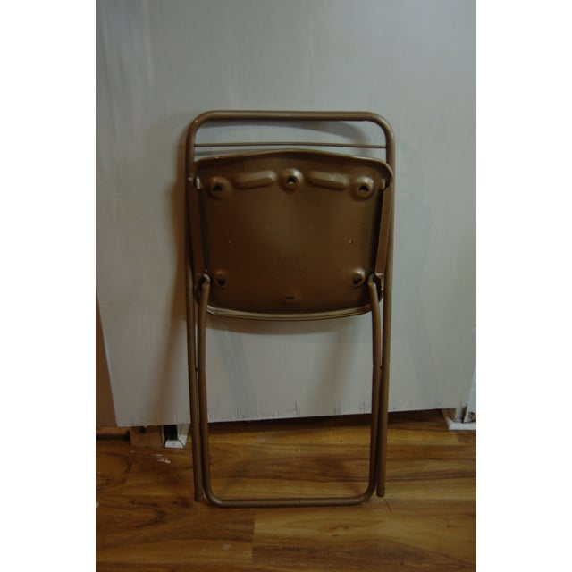 Vintage Stylaire Metal Folding Chairs - 4 For Sale - Image 7 of 9