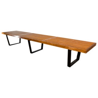 Large George Nelson Slat Bench for Herman Miller For Sale