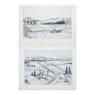 1939 Andrew Butler, Original Period Photogravures - a Pair For Sale