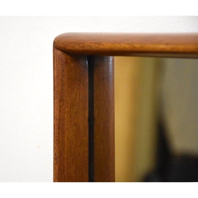 Mid-Century Modern t.h. Robsjohn-Gibbings for Widdicomb Walnut Mirror For Sale - Image 3 of 6