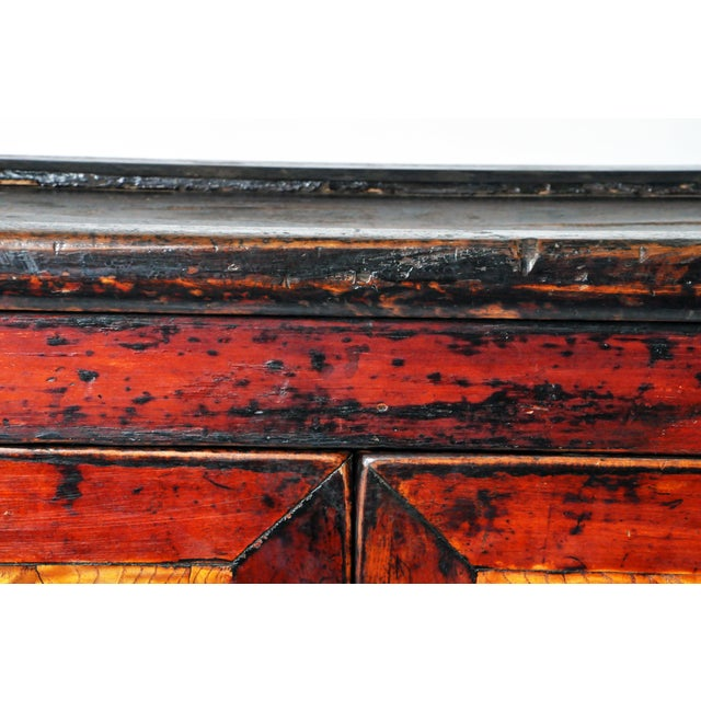 Chinese Red Lacquer Cabinet For Sale In Chicago - Image 6 of 11