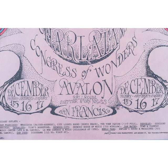 """Vintage """"The Charlatans"""" 1967 Concert Poster For Sale - Image 5 of 10"""