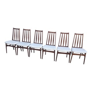 Late 20th Century Vintage Danish Teak Dining Chairs- Set of 6 For Sale