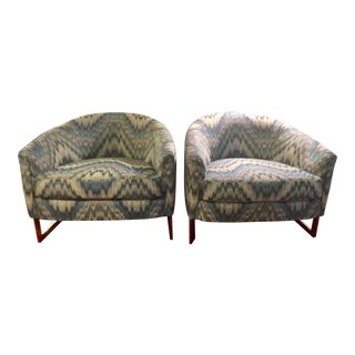 Vintage Mid Century Milo Baughman Tub/Club Chairs- a Pair For Sale