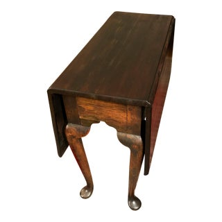 Mid 18th Century Antique Mahogany Drop-Leaf Table For Sale