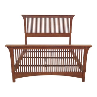 Stickley Spindled Mission Oak Full Size Bed For Sale