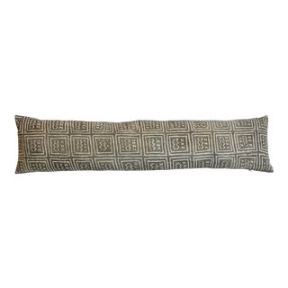 "African Mud-Cloth Tribal Lumbar Bolster Feather/Down Pillow 45"" X 11"" For Sale"