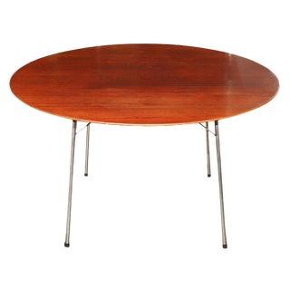 Arne Jacobsen for Fritz and Hansen Teak and Chrome Table For Sale