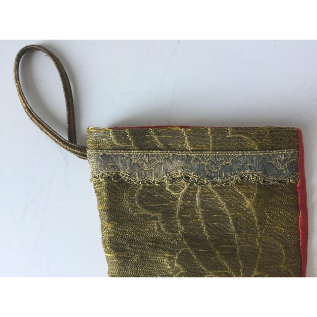 Antique Gold Brocade Stocking Ornament - Image 3 of 6