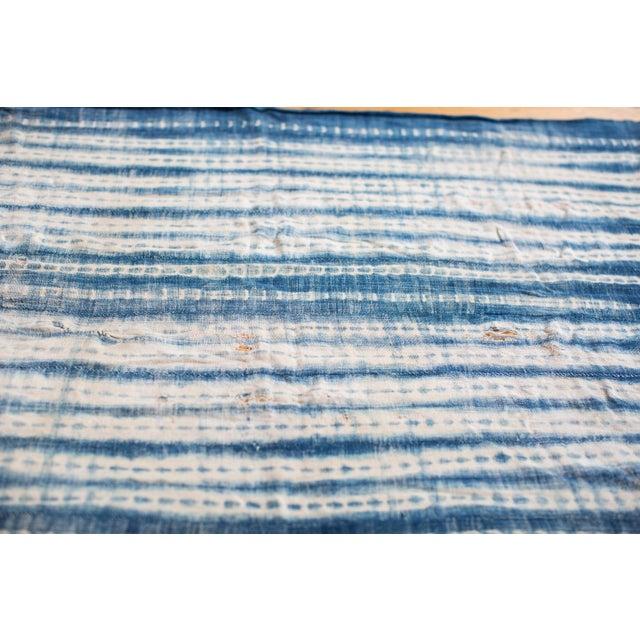Vintage Batik Blue Throw - Image 2 of 5