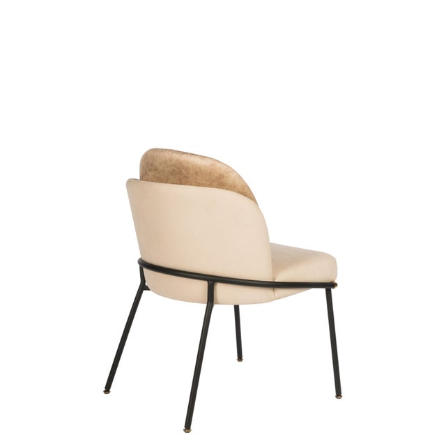 """Measurements: 22.5""""d x 23.5""""w x 32.5""""h Seat height: 18.5""""h Seat measurements: 21""""w x 17""""d Materials: Linen, PU leather..."""