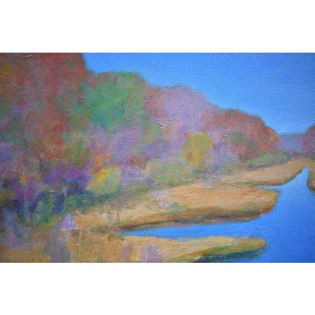 "Stephen Remick ""Autumn at the Marsh"" Contemporary Landscape Painting For Sale In Providence - Image 6 of 13"