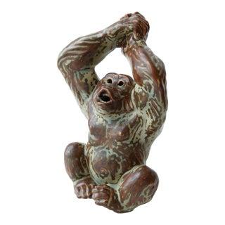 1960s Figurative Royal Copenhagen Ceramic Figurine of Monkey For Sale