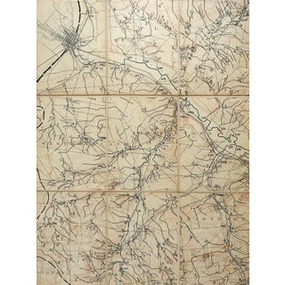 Oriskany, Rome, New York 1895 Us Geological Survey Folding Map For Sale