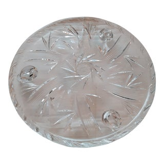 Early 20th Century Etched Glass Cake/Pastries Footed Platter For Sale