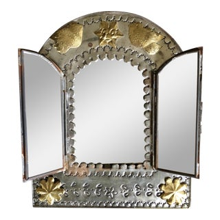 Mexican Punched Tin Frame Mirror