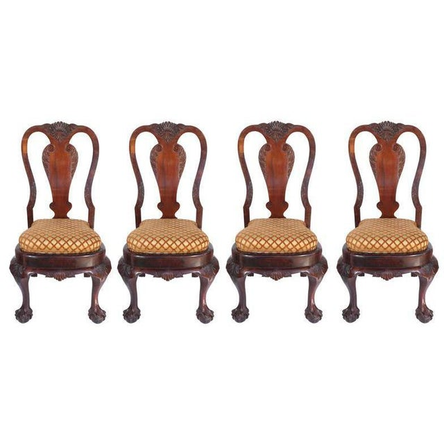 Queen Anne 19th Century Queen Anne-style Chairs- Set of 4 For Sale - Image 3 of 3