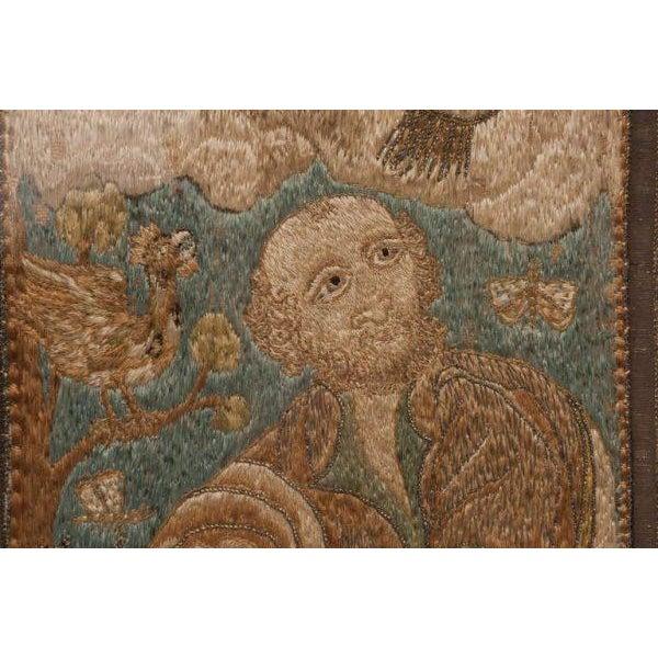 Italian Silk Thread Needlework in Gilt Frame For Sale In Nashville - Image 6 of 11