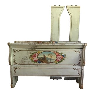 Vintage Paint Decorated Bed For Sale