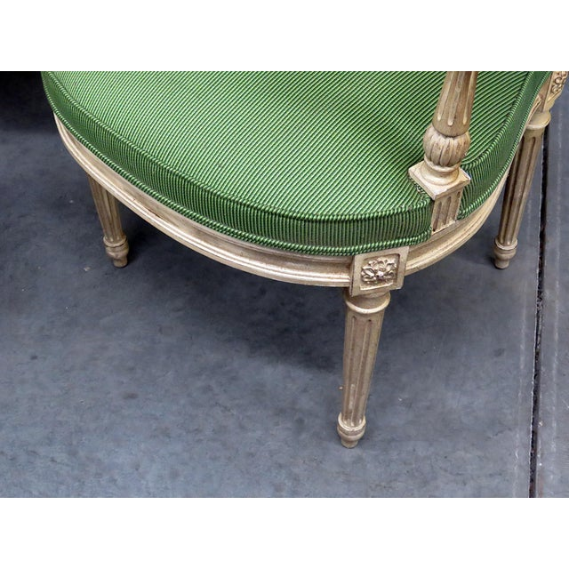 Louis XV Vintage Mid Century Maison Jansen Style Dining Chairs- Set of 8 For Sale - Image 3 of 8