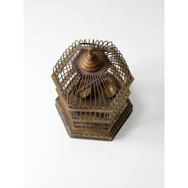 Modern Antique Brass Bird Cage For Sale - Image 3 of 7