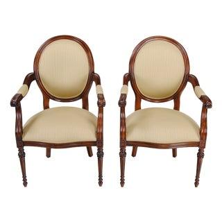 Niagara Furniture Round Back Mahogany Chair - a Pair For Sale