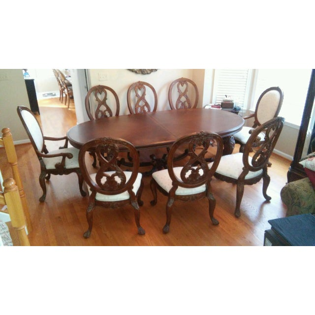 American Drew Dining Room Set With 12 Chairs | Chairish