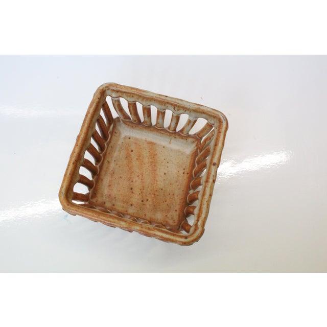 Minimalism Rustic Cohen Earthenware Pottery Basket For Sale - Image 3 of 5
