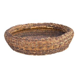 Rattan Hand Woven Burmese Basket For Sale