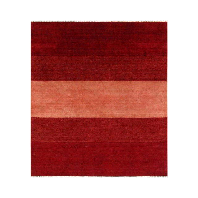 Pasargad Red Persian Hand Knotted Gabbeh Design Rug 8' X 10' For Sale