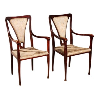 Art & Craft Armchairs England Around 1900 For Sale