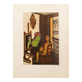 "Henri Matisse Original ""The Painter and His Model"" Period Swiss Lithograph, C. 1940s For Sale"