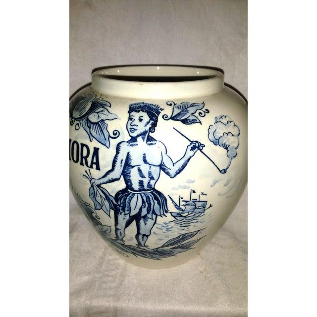 """Blue Delft """"Amphora"""" Hand Painted Porcelain Jar For Sale - Image 7 of 8"""