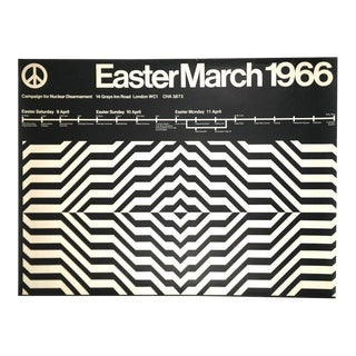 1966 Nuclear Disarmament March Poster from London For Sale