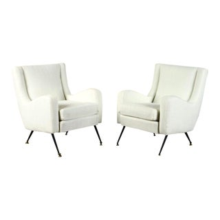 Italian Armchairs Midcentury - a Pair For Sale