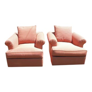 Vintage Mid Century Hollywood Regency All Original Matching Arm Chairs- A Pair For Sale