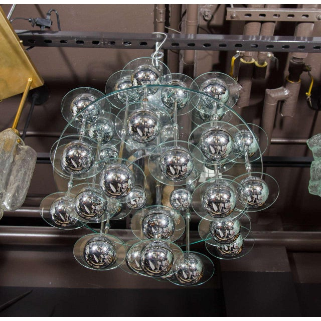 1960s Mid-Century Modern Space Age Chandelier For Sale - Image 5 of 8