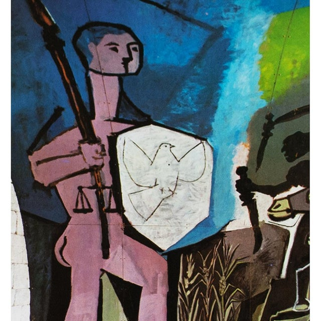Abstract 1971 Picasso War & Peace Parisian Photogravure For Sale - Image 3 of 7