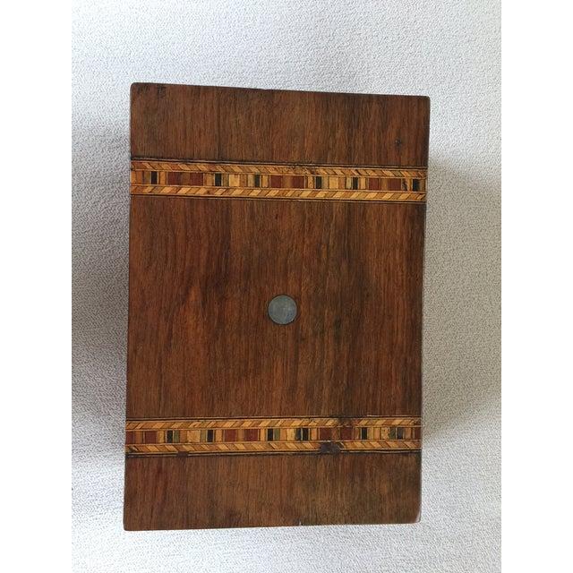 English Traditional Walnut Tunbridge Ware Box For Sale - Image 3 of 6