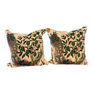 Schumacher Lemon Tree Pillows - a Pair