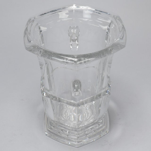 Large Early 20th Century French Crystal Ice Bucket For Sale In Detroit - Image 6 of 8