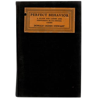 Perfect Behavior by Donald Ogden c. 1922 For Sale