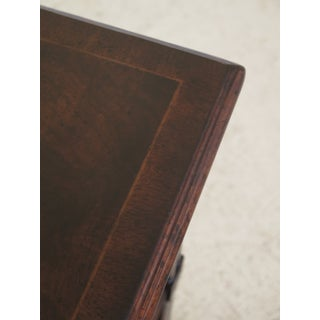 Chippendale Jonathan Charles 2 Drawer Carved Mahogany Bookcase Preview