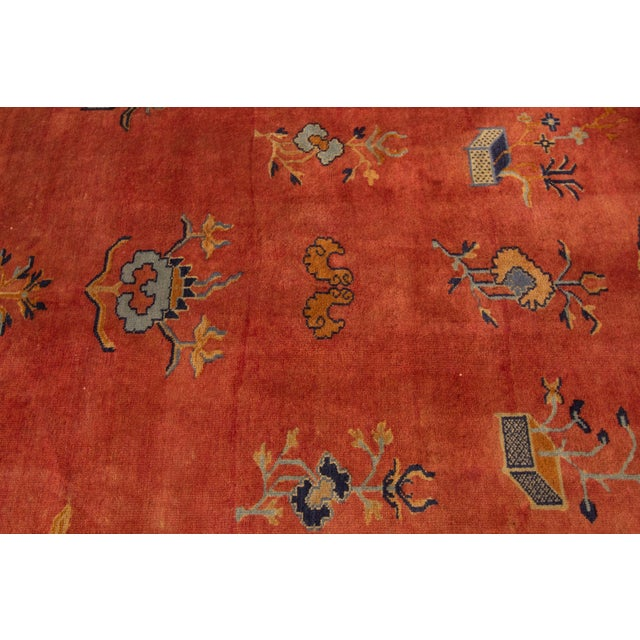 "Apadana-Antique Indo Chinese Rug, 12'0"" X 13'6"" For Sale - Image 10 of 11"