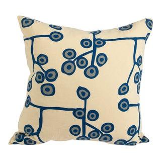 Scandinavian Floral Cream Pillow For Sale