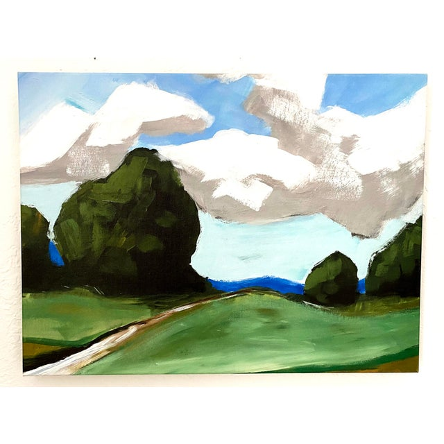 2010s Contemporary Summer Landscape Prints on Canvas - a Pair For Sale - Image 5 of 11