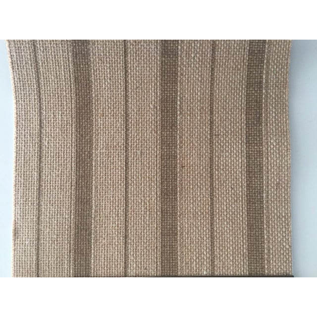 """Phillip Jeffries Natural Textured Wall covering #5603 (discontinued) Ticking stripe in tan 37"""" untrimmed Unopened Dye lots..."""